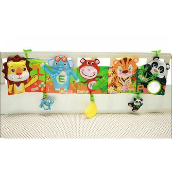 Animal Baby Book Baby Toys 0-12 Months Soft Cloth Book Bed Cute Popular Unfolding Activity Books Cute Animals Bed Bumper T009-30
