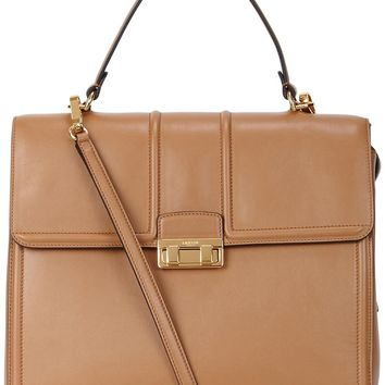 Lanvin Jiji camel leather tote