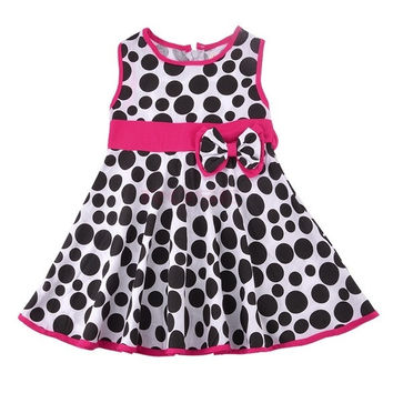 New Girls Baby Toddler Kids Clothes Sleeveless Polka Dot Jumper Skirt Tutu Dress SV006693|26601 Children's Clothing = 1745659076