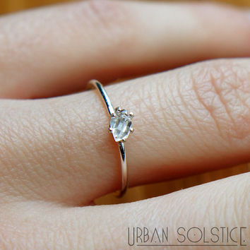 ring sterling and il silver set rough stacking engagement two shop or aquamarine rings gold specimental design diamond raw cut
