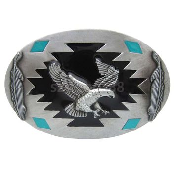 Native American Vintage Western Flying Eagle Belt Buckle Cowboy Cowgirl
