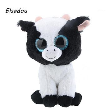 Elsadou Ty Beanie Boos Stuffed & Plush Animals Cows Doll Toys For Girls