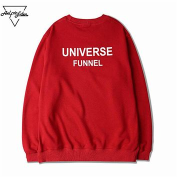 Little Love Heart Fleece Keep Warm Pullover Men's UNIVERSE FUNNEL Print Loose Hoodie Man Multi Code Sweatshirts