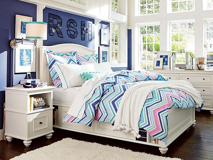 Chelsea zig zag bedroom from pbteen room ideas for Zig zag bedroom ideas