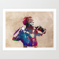Baseball player 1 #baseball #sport Art Print by jbjart