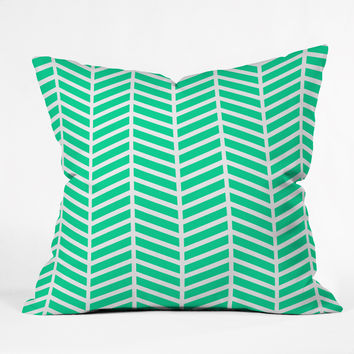 Rebecca Allen Turquoise Bliss Throw Pillow
