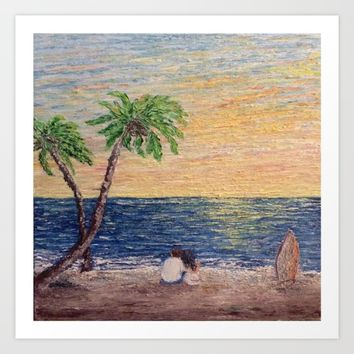 Oil Painting Print Art Print by Annette Forlenza