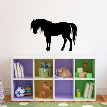 Horse Wall Decal - Girls Bedroom Wall Sticker - Horse Decal - Style 2