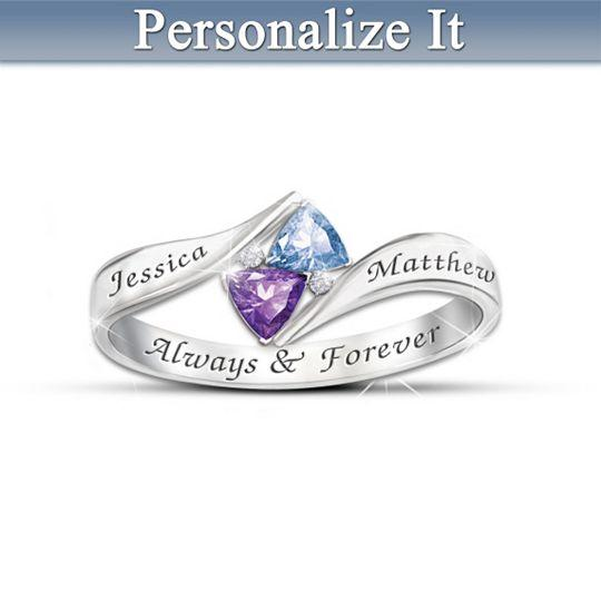 Womens Ring Loves Promise Personalized From Bradfordexchange