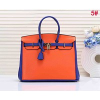 Hermes Fashion Luxury Women Shopping Bag Leather Handbag Tote Shoulder Bag 5#