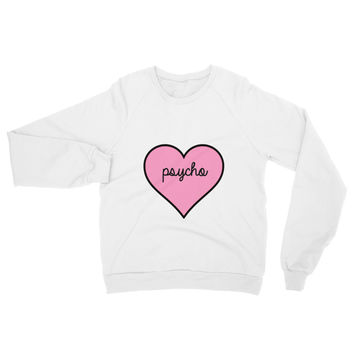 Psycho Heart Crew Neck Sweater