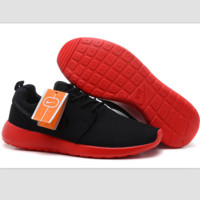 """NIKE"" roshe Trending Fashion Casual Sports A Simple yet Powerful Style Nike Shoes Black (red soles)"