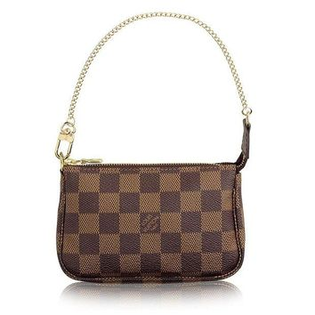 VONL8T Louis Vuitton Damier Canvas Mini Pochette Accessoires N58009 Made in France