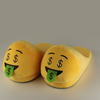 Emoji Plush Funny Slippers 2016 Indoor Warm House Shoes