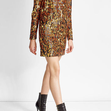 Sequin Embellished Mini Dress - Balmain | WOMEN | US STYLEBOP.COM