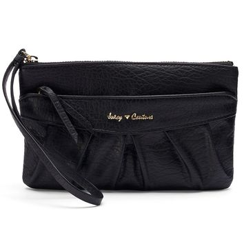 Juicy Couture Pleated Wristlet (Black)
