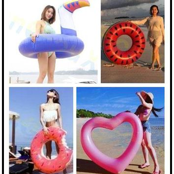 Inflatable Animal Swimming Ring Giant Pool Float Toy Water Mattress Lifebuoy Swimming Circle Adult Beach Party Sea swim laps