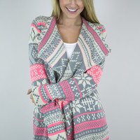 Snowflake Dream Double Knitted Cardigan