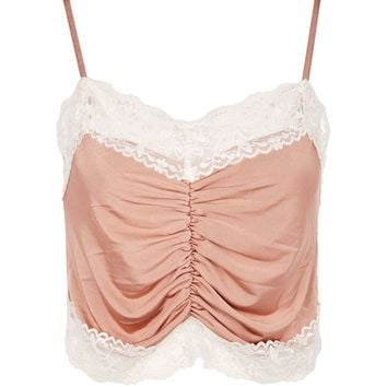 Satin Ruched Camisole Top | Topshop