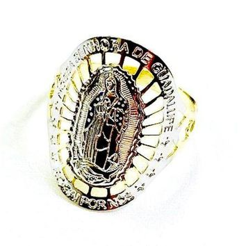 VIRGIN SENORA DE GUADALUPE 18KTS OF GOLD PLATED RING
