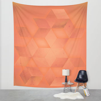 PEACH Wall Tapestry by DuckyB (Brandi)