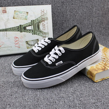 """""""VANS"""" All-match Unisex Casual Low Help Shoes Canvas Shoes Couple Shoes Small White Shoes"""