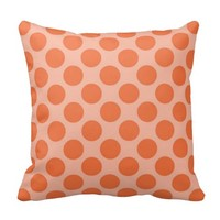 Fun Summer Orange Polka Dots Pattern on Orange