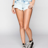 Volcom Chonies Womens Denim Shorts Light Stone  In Sizes
