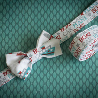 Baby Bow Tie and  Belt Set - Cars and Boats Photography Prop Suspender set for toddlers and little boys.