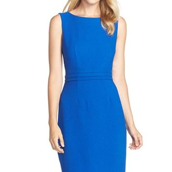 Women's FELICITY & COCO Crepe Shift Dress ,