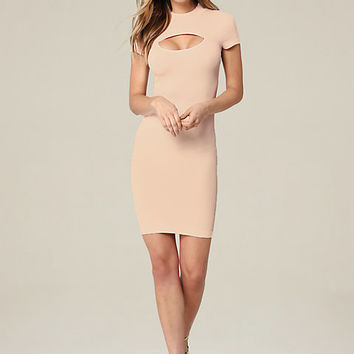 RIBBED KEYHOLE DRESS