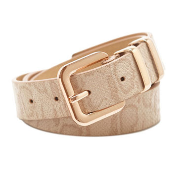 Reptile Printed Belt | Wet Seal