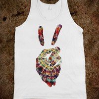 White Tank | Cool Peace Sign Shirts