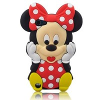 LliVEER Ipod Touch 5 Red Lovely Minnie Silicone Case Cover for Apple iPod Touch 5th Generation + Gift 1pcs Insect Mosquito Repellent Wrist Bands bracelet