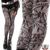 Romantic French EGL PICOT LACE PANTYHOSE VINE BEANSTALK