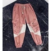 Nike Autumn New Fashion Women Men Casual Embroidery Pink Sport Pants Trousers Sweatpants