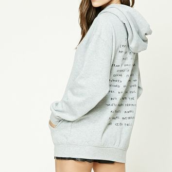Love Embroidered Hoodie