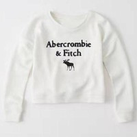 ICIK1W Abercrombie & Fitch Fashion Print Top Sweater Pullover-1