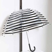 Stripe Bubble Umbrella- Black One