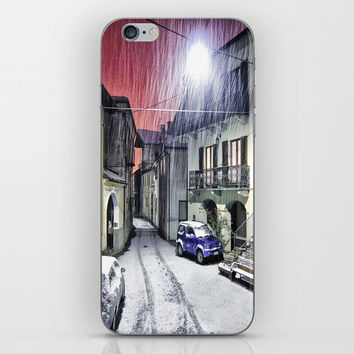 City under rain iPhone & iPod Skin by abeerhassan