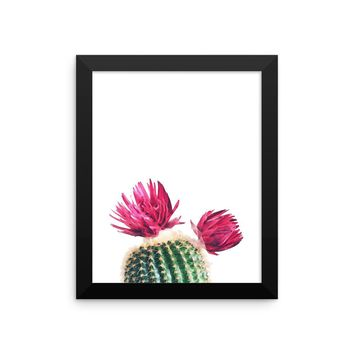 Watercolor Cactus Framed poster