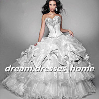 2013 Nobby Sweetheart Ball Gowns Wedding dresses bridal gown Quincenaera dresses