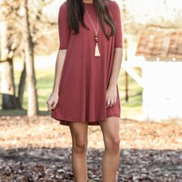 Where I'm Going Dress-Marsala
