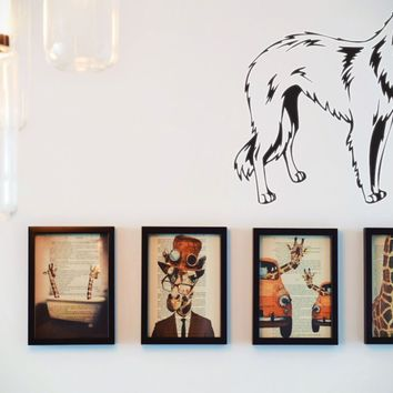 Borzoi Vinyl Wall Decal (Removable Sticker)