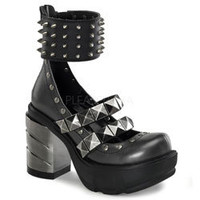 SINISTER-62 Chromed Spike Boots - platform boots, gothic boots, punk boots
