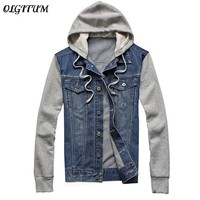 2018 New Fashion Men's Fleece Hoodies Cowboy Men Jacket Tracksuits Denim Jacket Jeans Jacket Hoodies Sweatshirts