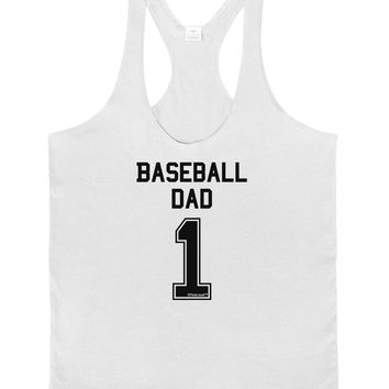 Baseball Dad Jersey Mens String Tank Top by TooLoud