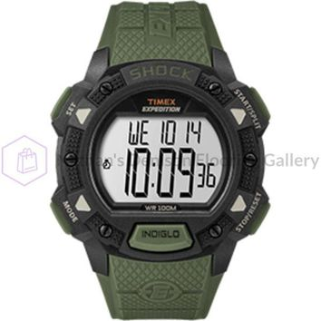 Timex Expedition® Base Shock Resin Strap Watch - Green