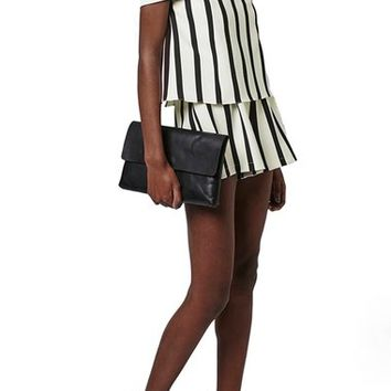 Topshop Stripe Off the Shoulder Romper (Regular & Petite) | Nordstrom