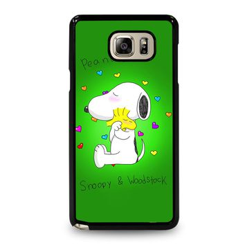 PEANUTS SNOOPY AND WOODSTOCK Samsung Galaxy Note 5 Case